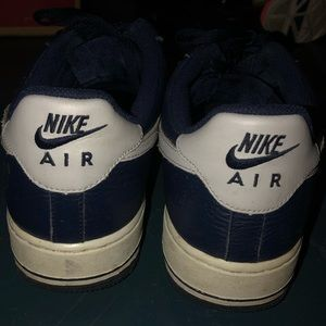 Nike Shoes - 💙mens white and blue nike air forces💙